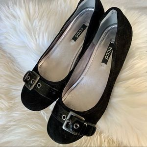 ECCO Ballet Flat - Suede and patent Leather Sz 37